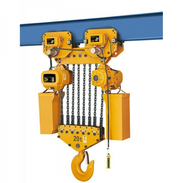 ELECTRIC CHAIN HOIST WITH TROLLEY HHBD 10T x 12M 380V