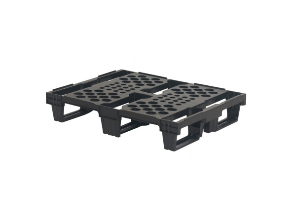 PLASTIC EXPORTS PALLET - 800x600mm - 3 runners - nestable