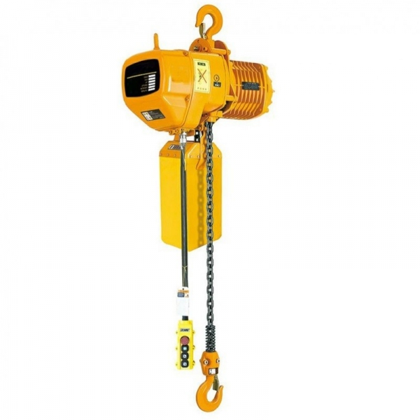 ELECTRIC CHAIN HOIST STATIONARY WITH HOOK HHBD 0.5-01, 500 KG, 6 M