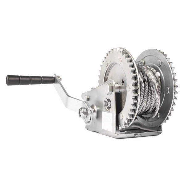 MANUAL ROPE WINCH (GEAR) LHW-1200, 500 KG, ROPE LENGTH 10 M