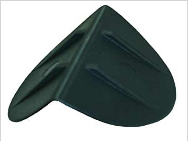 Black plastic edge protection bracket