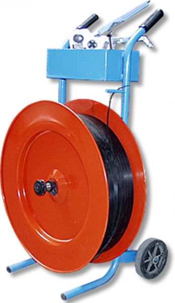 TROLLEY FOR STRAPPING TAPE